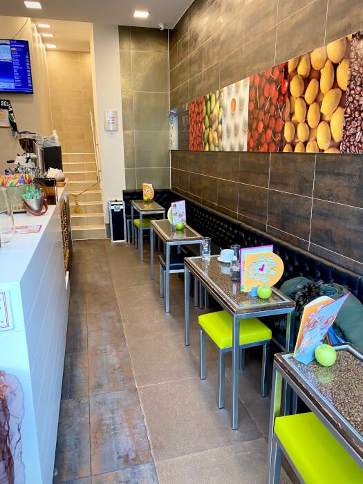 das Eiscafe Santin in der Büchsenstraße von Innen